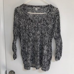 Kenneth Cole sheer patterned top